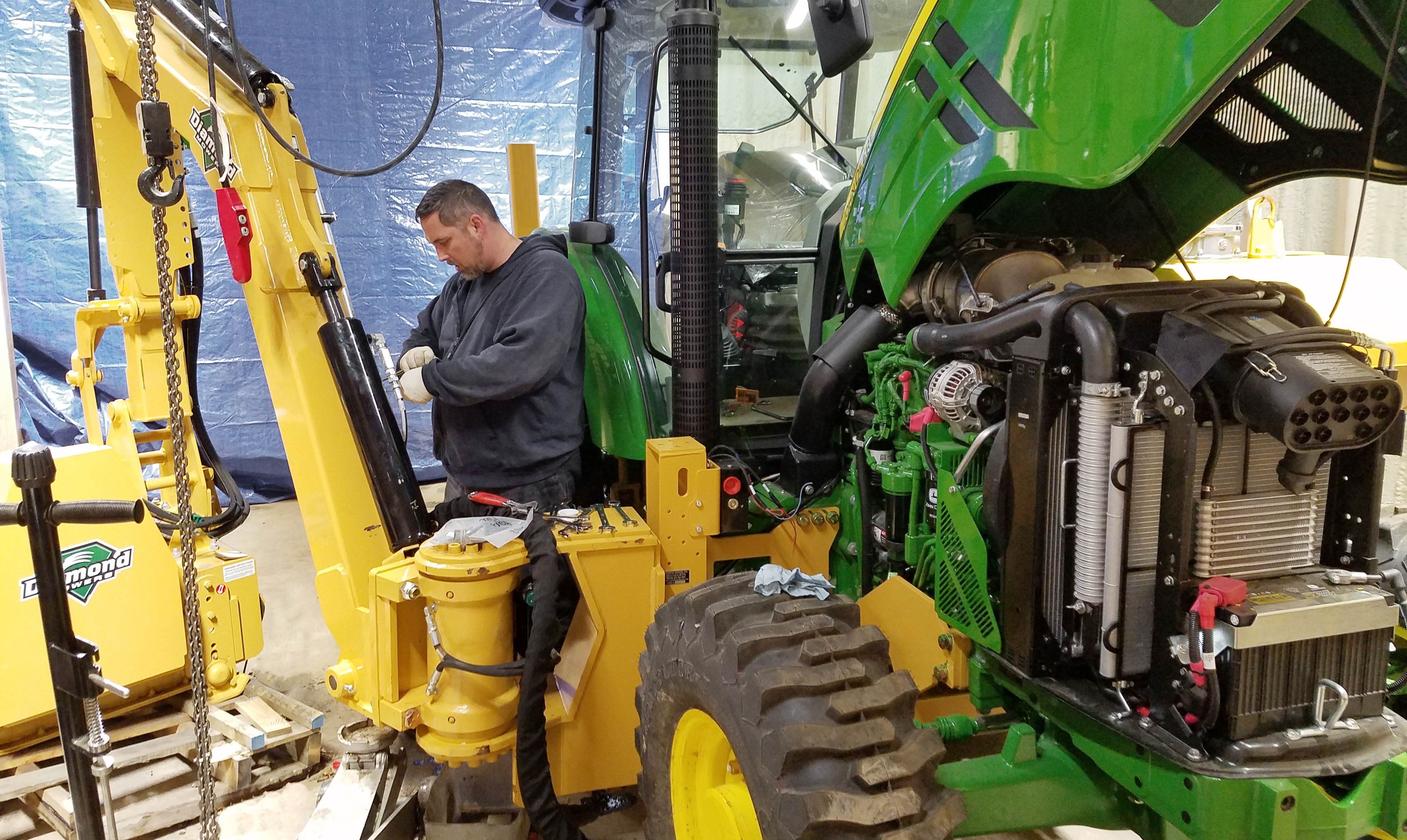 Tractor in Shop