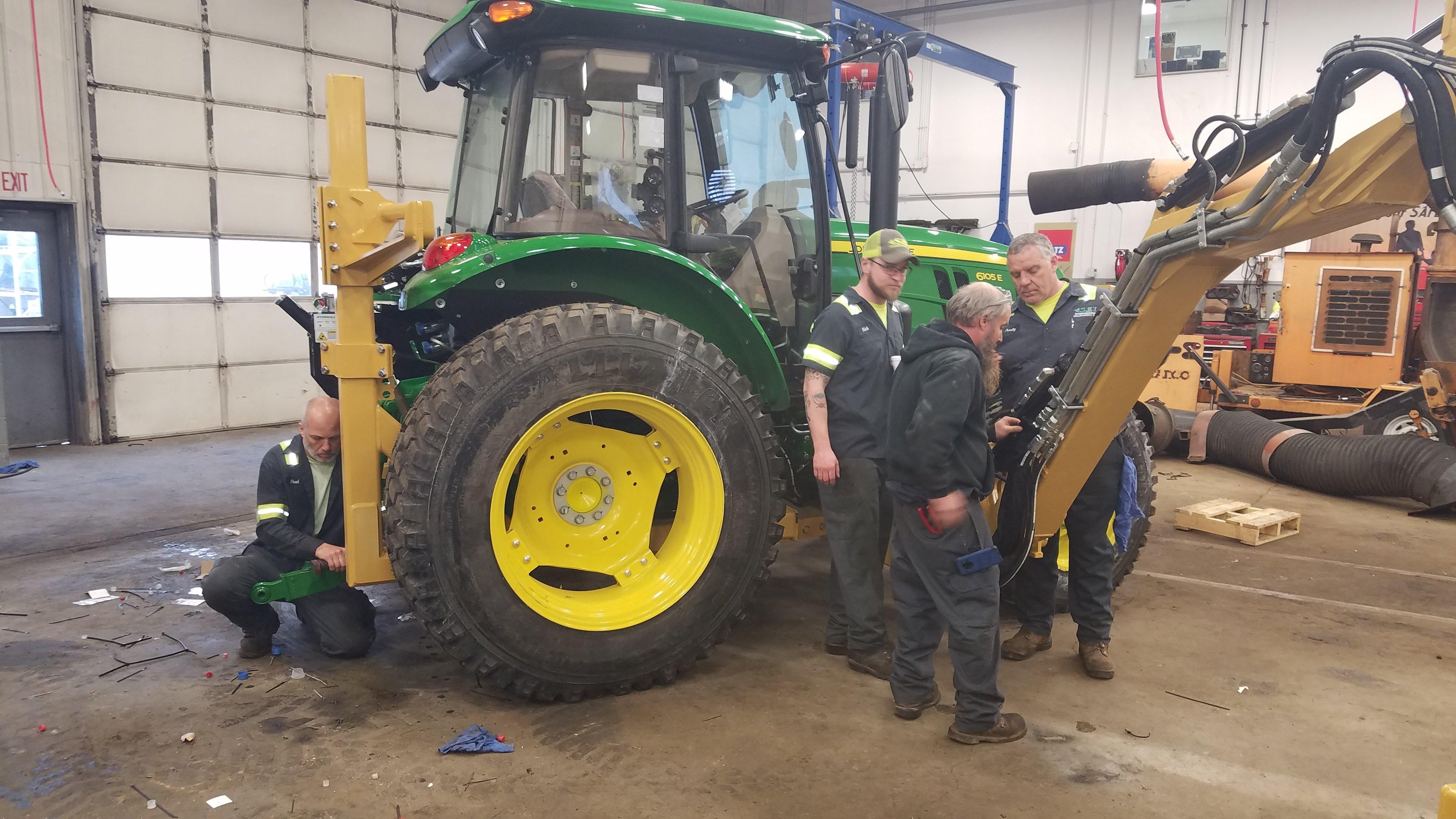 Municipal Training on a Tractor