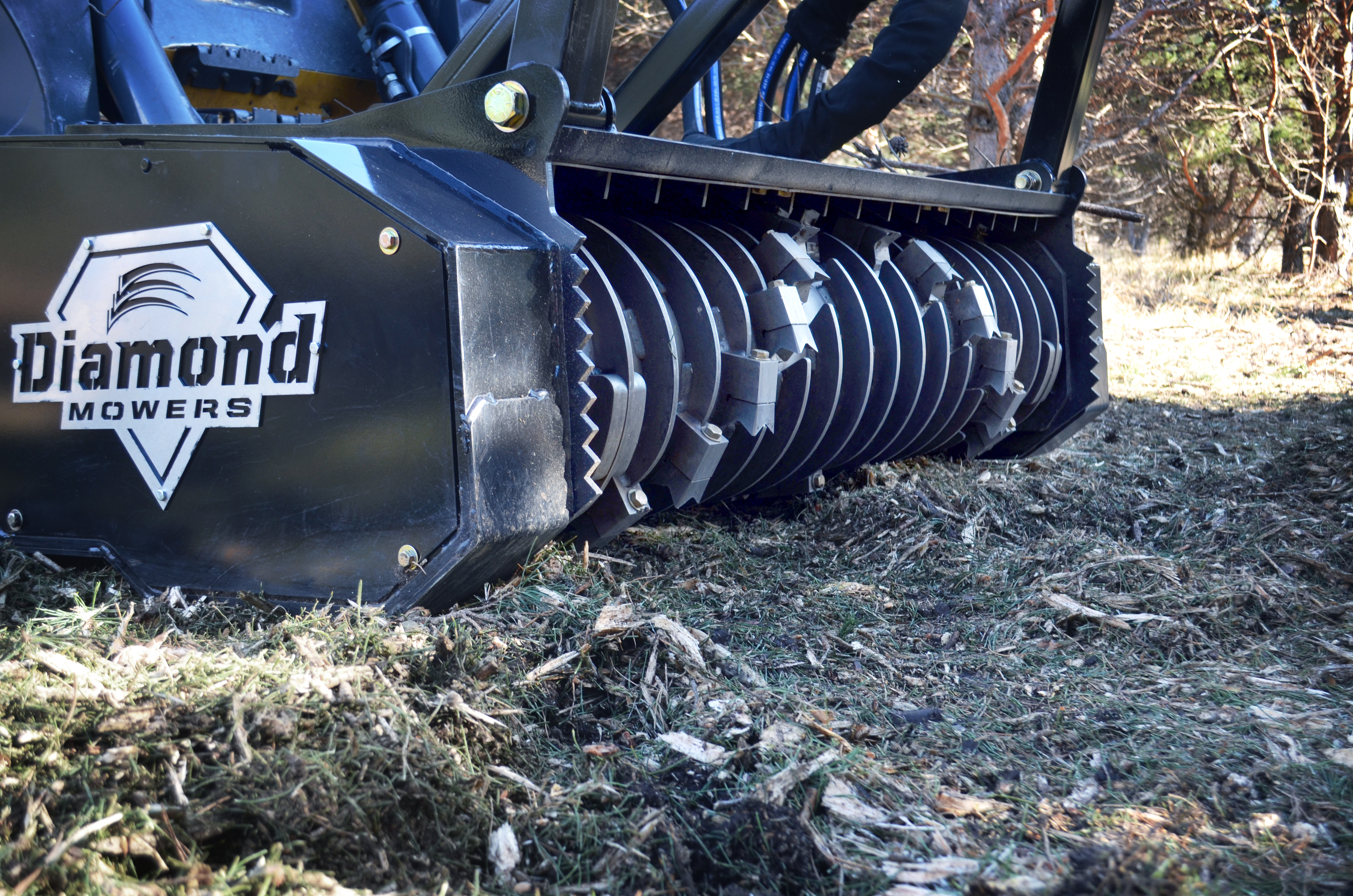 Drum Mulching Attachment for Tree Removal