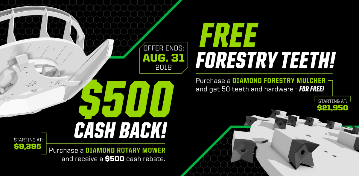 $500 Cash Back / Free Forestry Teeth
