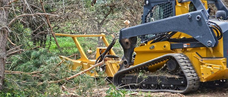 heavy duty skid-steer land clearing