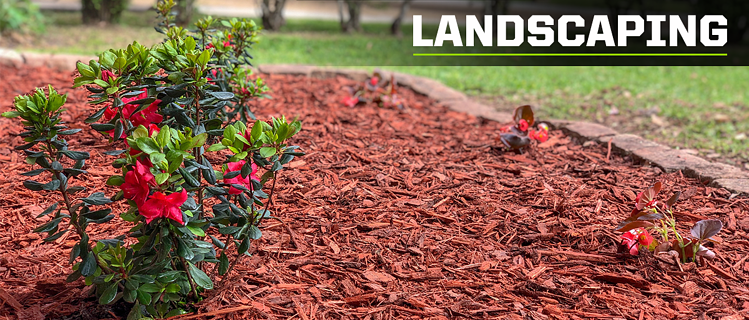 landscaping with mulch chips