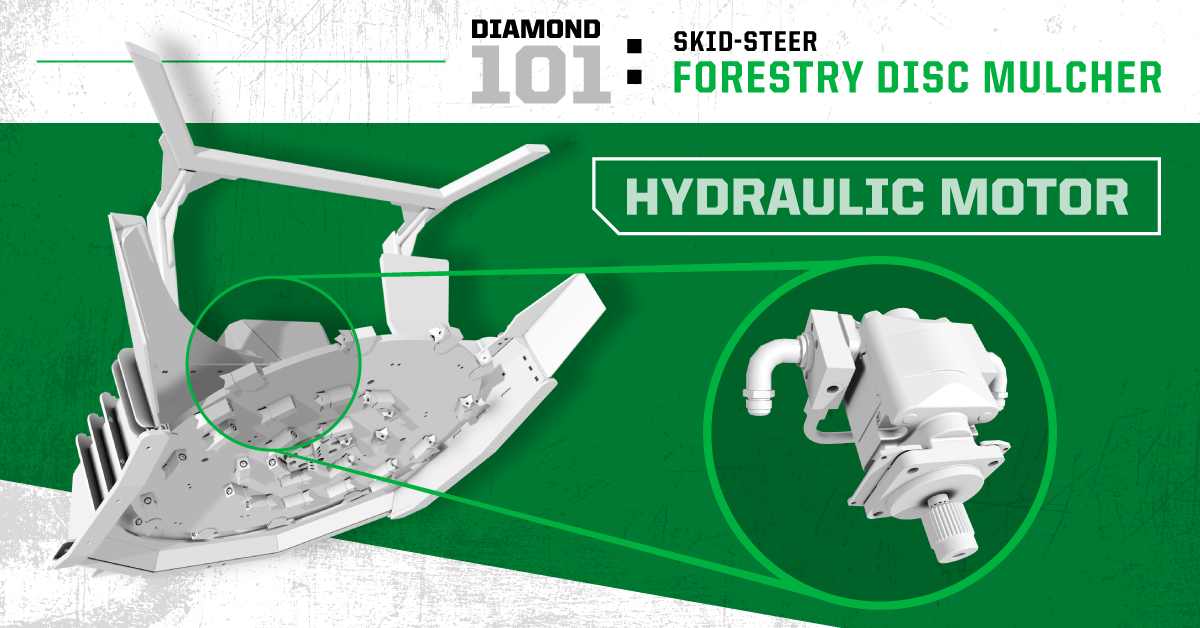 Diamond 101: Skid-Steer Forestry Disc Mulcher - Hydraulic Motor