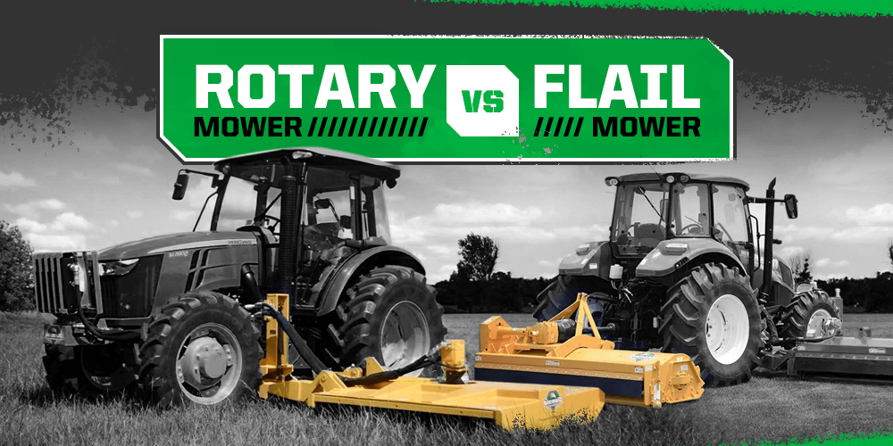 Rotary mower vs flail mower