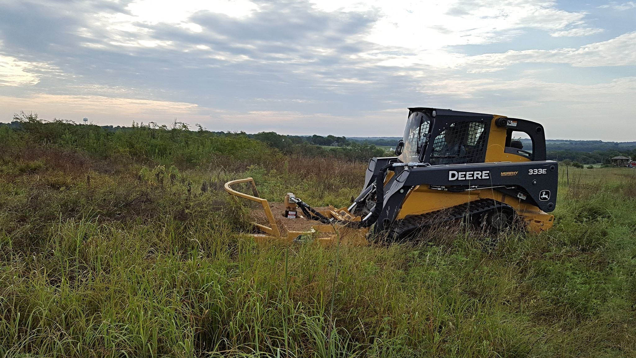 Skid-Steer Rotary Mower in action in the Midwest