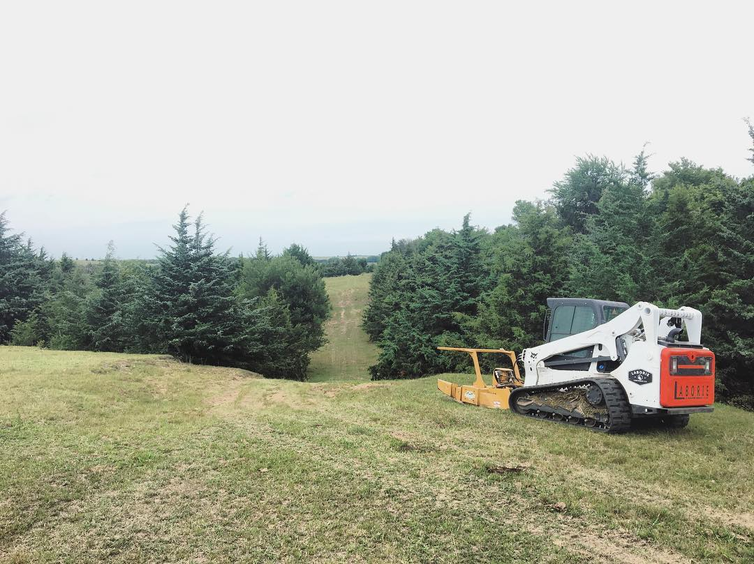 Laborie Land Works with Forestry Mulcher