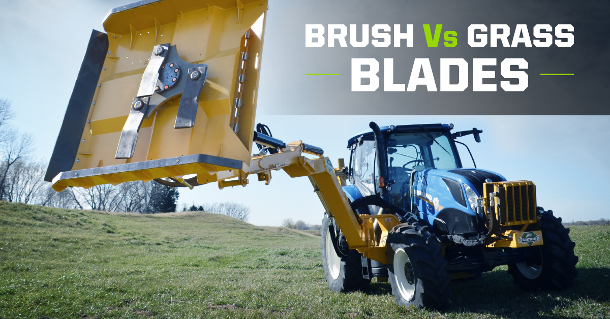Brush vs grass blades