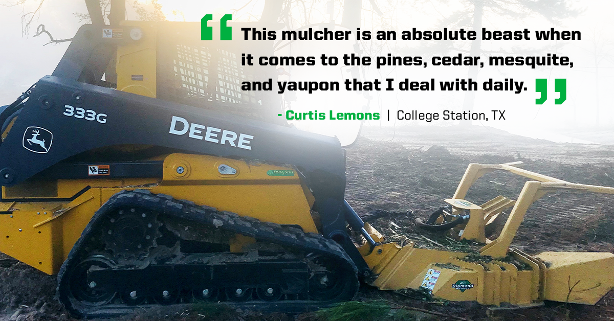 Testimonial - Curtis Lemons - Skid-Steer Forestry Disc Mulcher