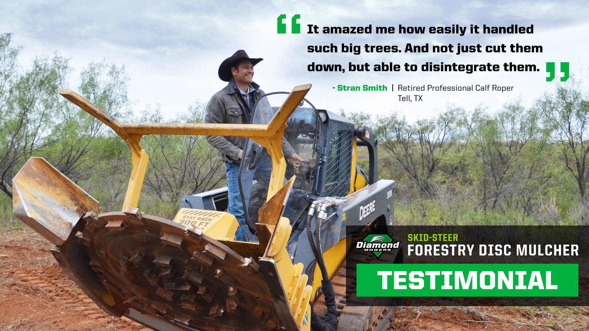 Skid Steer Forestry Mulcher For Sale Texas